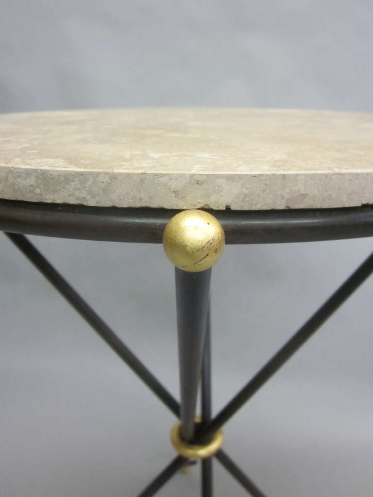 Pair of French 1940s Style Modern Neoclassical Side Tables For Sale 1