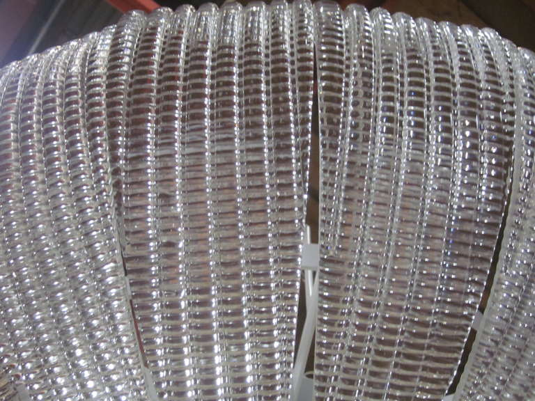 20th Century Large Italian Mid-Century Modern Murano Glass Chandelier, Carlo Scarpa, Venini For Sale