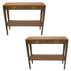 Pair Of 1940s Style Consoles After Gilbert Poillerat For
