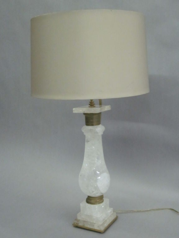 large pair of rock crystal table lamps at 1stdibs. Black Bedroom Furniture Sets. Home Design Ideas