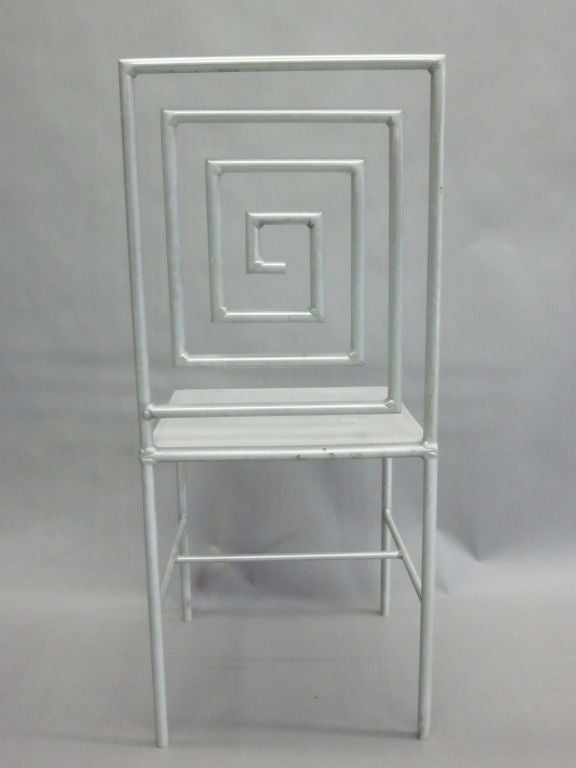 Aluminum Late 20th Century Artist Made / Modern Craftsman Chair by Jose Pascual  For Sale