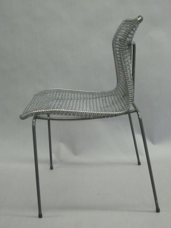 Modern Original Pre-Production Prototype Wire Desk Chair by Niall O'Flynn For Sale