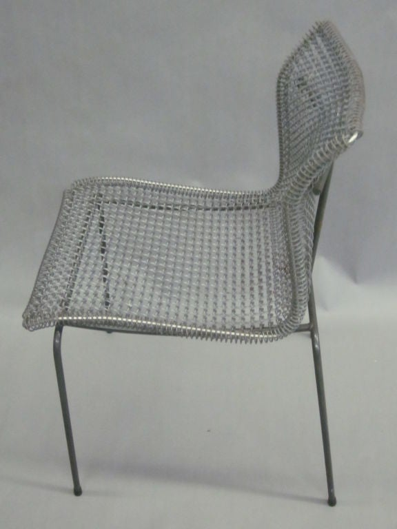 Irish Original Pre-Production Prototype Wire Desk Chair by Niall O'Flynn For Sale