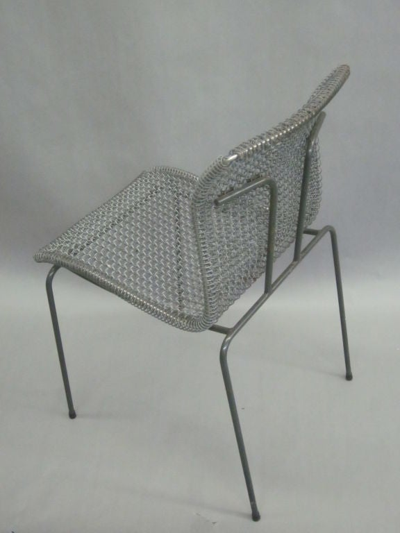Original Pre-Production Prototype Wire Desk Chair by Niall O'Flynn In Good Condition For Sale In New York, NY