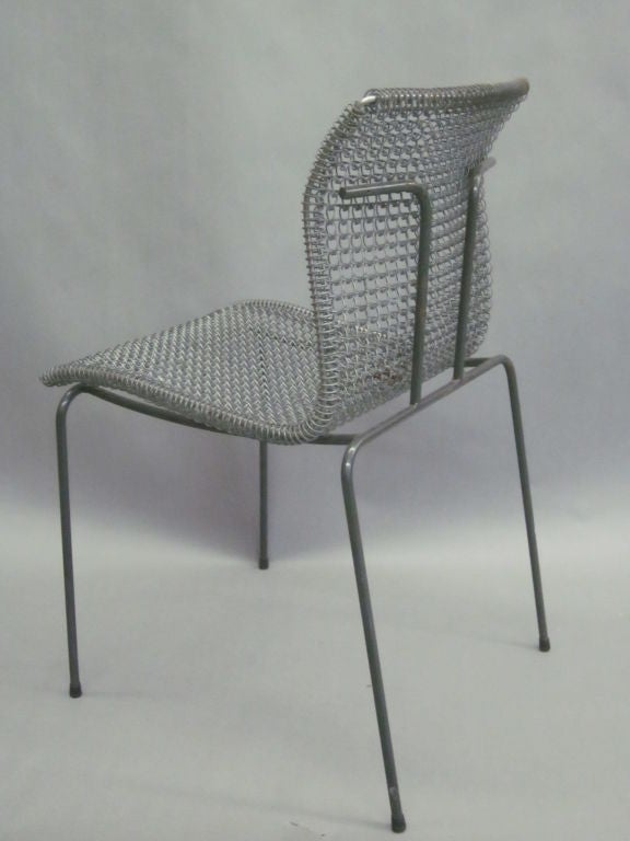 20th Century Original Pre-Production Prototype Wire Desk Chair by Niall O'Flynn For Sale