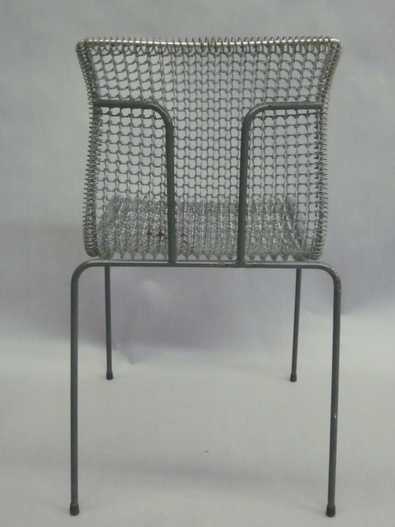 Original Pre-Production Prototype Wire Desk Chair by Niall O'Flynn For Sale 1