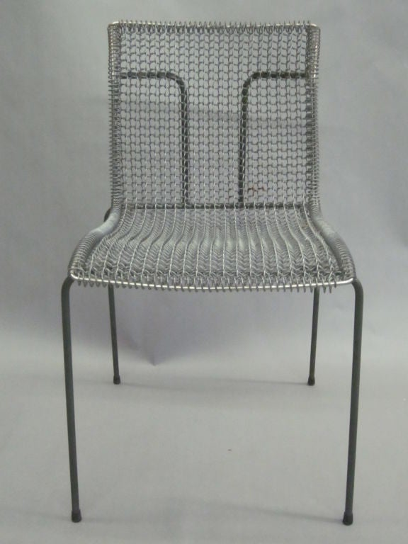 Original Pre-Production Prototype Wire Desk Chair by Niall O'Flynn For Sale 2