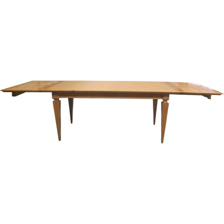 French Mid-Century Modern Neoclassical Dining Table by Andre Arbus, Paris, 1949