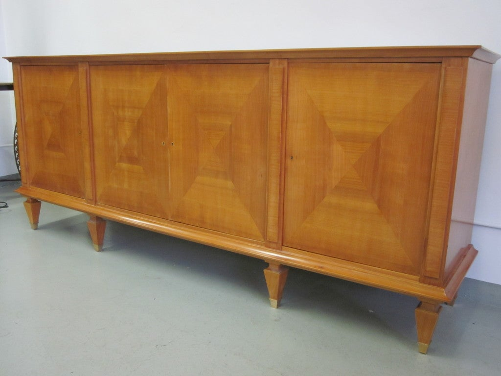 French Important Modern Neoclassical Sideboard by André Arbus, France, 1949 For Sale