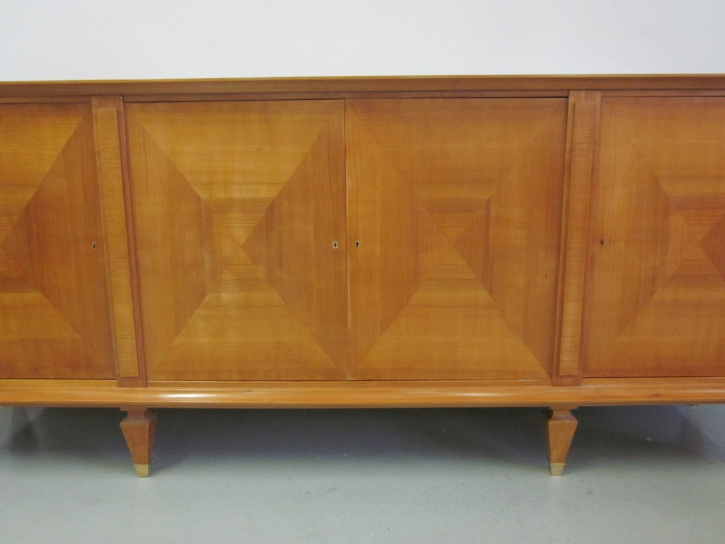 Mid-20th Century Important Modern Neoclassical Sideboard by André Arbus, France, 1949 For Sale