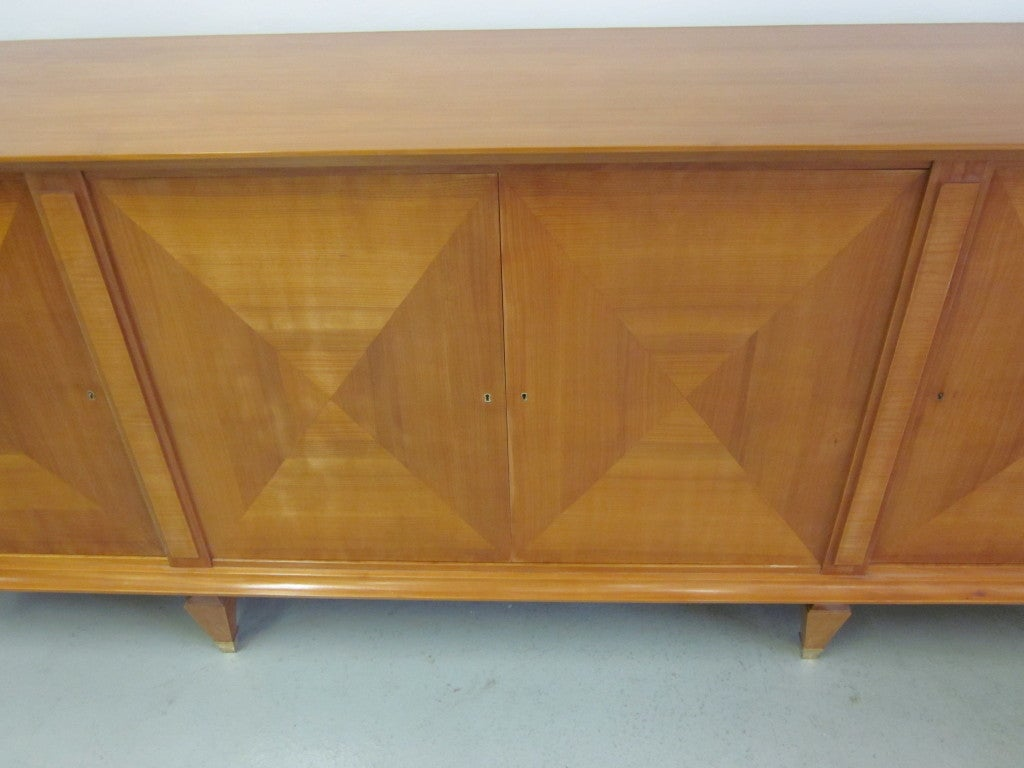 Bronze Important Modern Neoclassical Sideboard by André Arbus, France, 1949 For Sale
