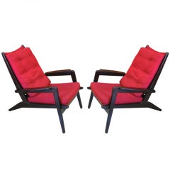 Pair of French 1950 Lounge Chairs by Pierre Guariche for Airborne