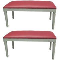 2 French 1940s Benches in the Manner of Andre Arbus