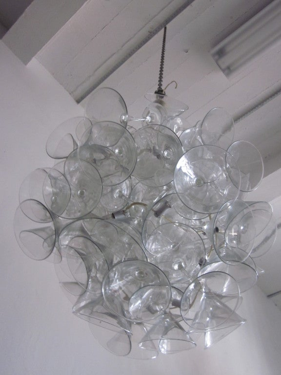 "Hand Made Martini Glass Chandelier by Touch ""Chandelini"".  5"