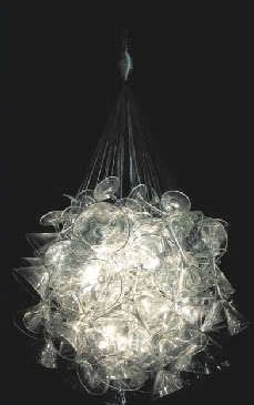 "Hand Made Martini Glass Chandelier by Touch ""Chandelini"".  6"