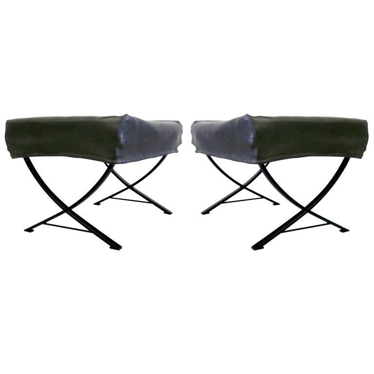 Pair of Italian 1960s Benches or Stools by Forma Nova