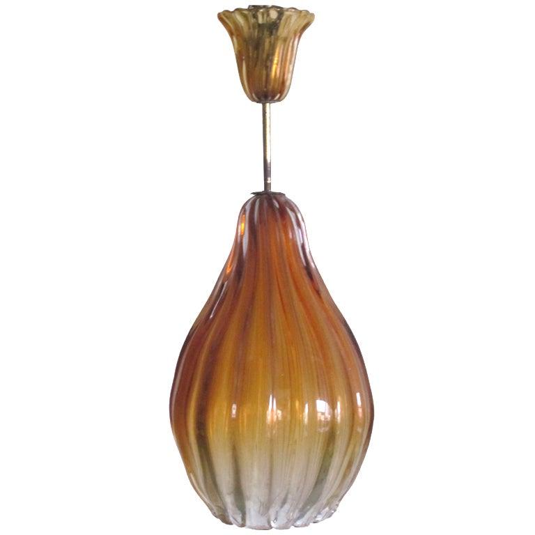 Mid-Century Modern Blown Murano / Venetian Glass Pendant / Chandelier by Seguso