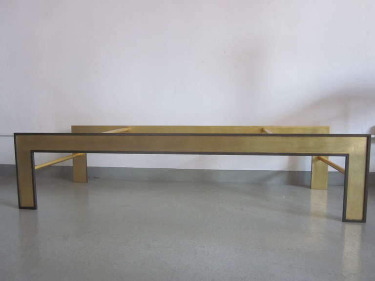 Large French Mid-Century Style Coffee Table from a Design by Marc Duplantier In Excellent Condition For Sale In New York, NY