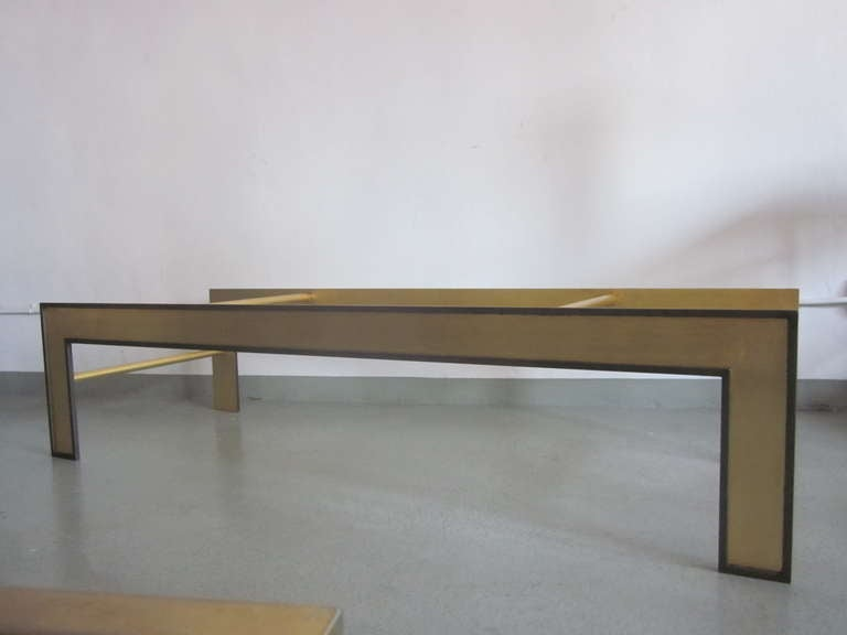 20th Century Large French Mid-Century Style Coffee Table from a Design by Marc Duplantier For Sale