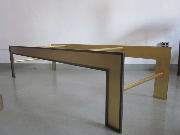 Iron Large French Mid-Century Style Coffee Table from a Design by Marc Duplantier For Sale