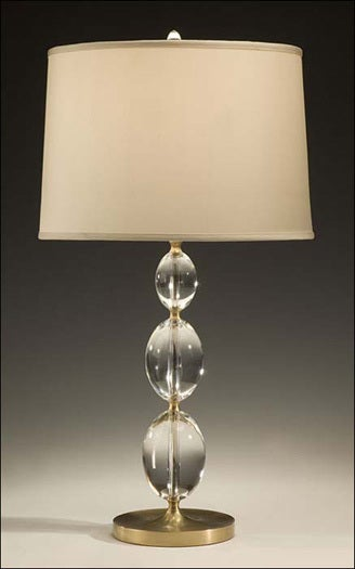 Four Italian Solid Crystal Sphere Table Lamps For Sale at ...