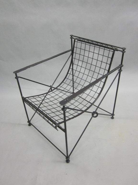 Pair of hand forged armchairs by galerie maison et jardin paris at 1stdibs - Maison jardin furniture nancy ...