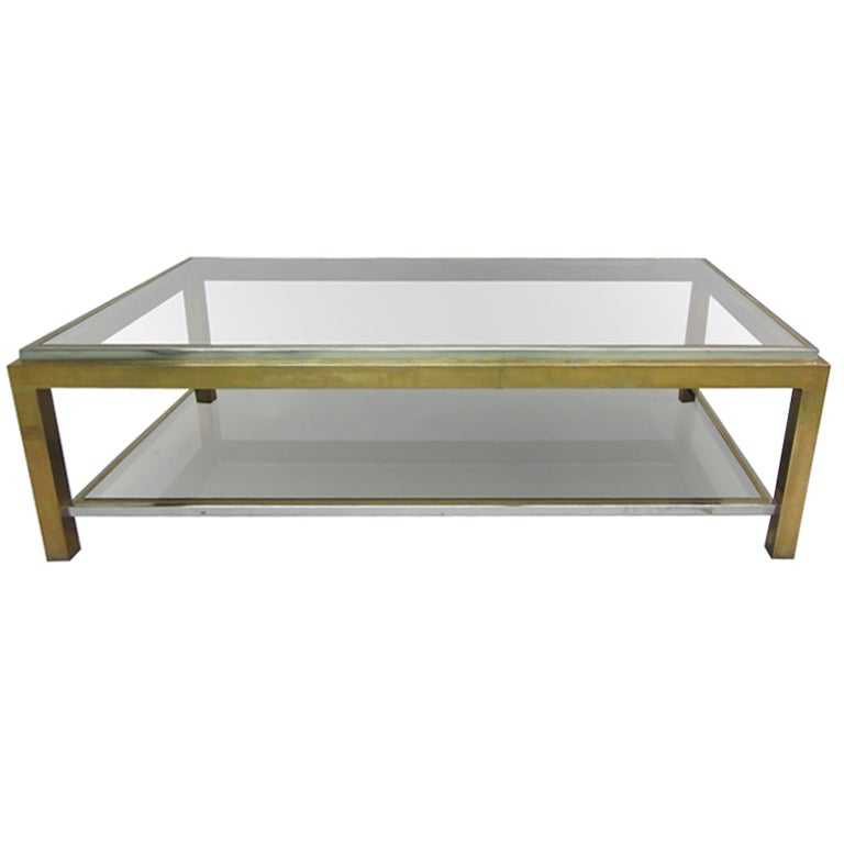 French Double Level Cocktail Table by Willy Rizzo for Maison Charles
