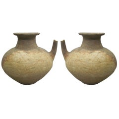 Two Ancient Khmer Tribal Urns / Amphoras