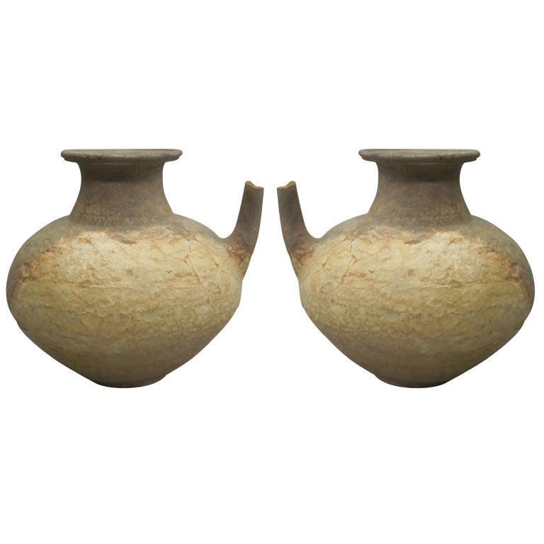 Two Ancient Khmer Tribal Urns / Amphoras For Sale