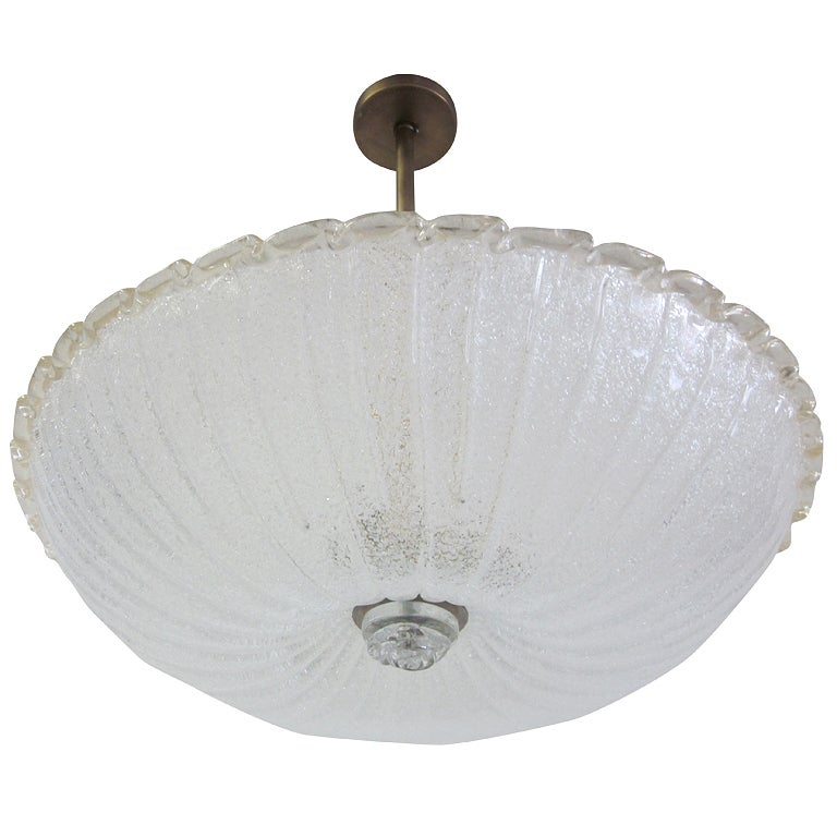 Large MId-Century Modern Murano / Venetian Glass Chandelier by Barovier e Toso