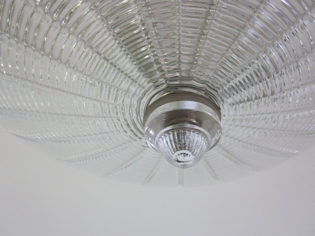 Large Italian Clear Murano Glass Chandelier 10