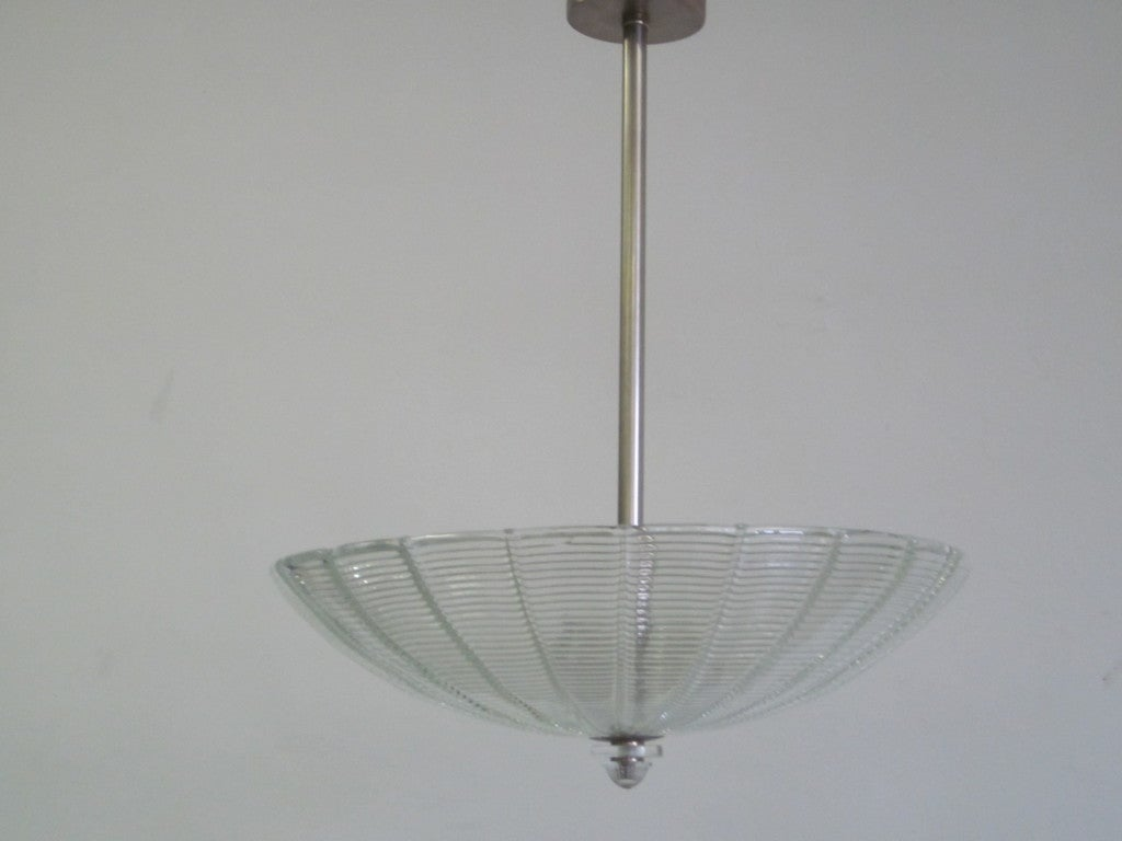 Large Italian Clear Murano Glass Chandelier 4