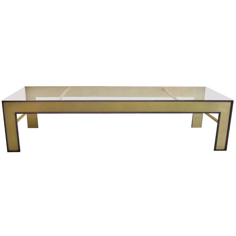 Large French Mid-Century Style Coffee Table from a Design by Marc Duplantier