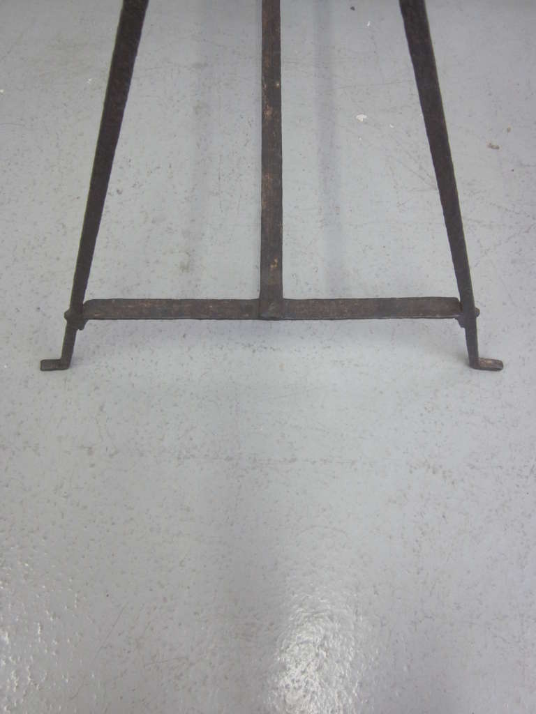 French Mid Century Modern Hammered Iron Desk Sofa Table