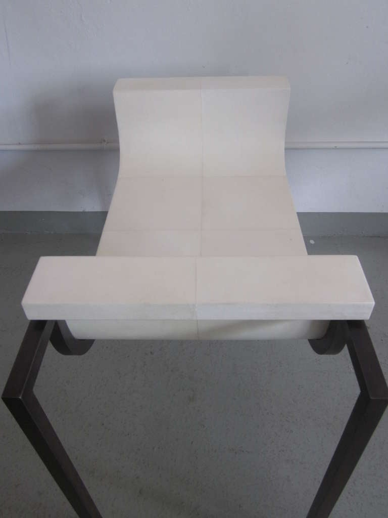 Two Parchment Benches in the Style of Marc Duplantier For Sale 1
