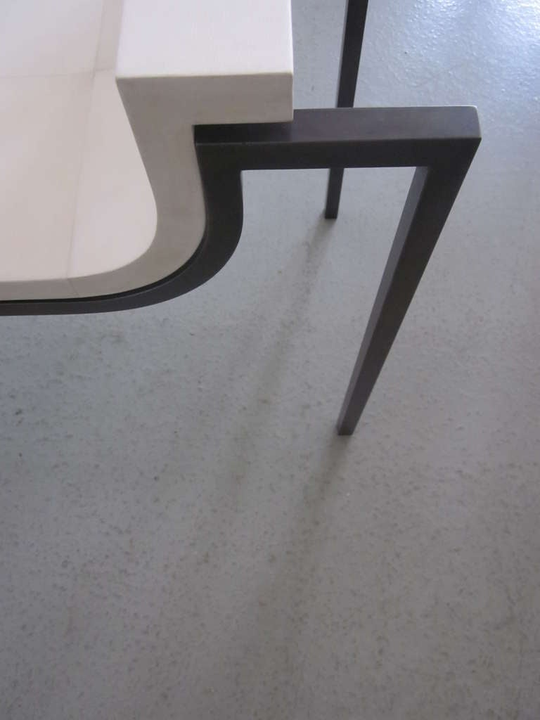 Two Parchment Benches in the Style of Marc Duplantier For Sale 2
