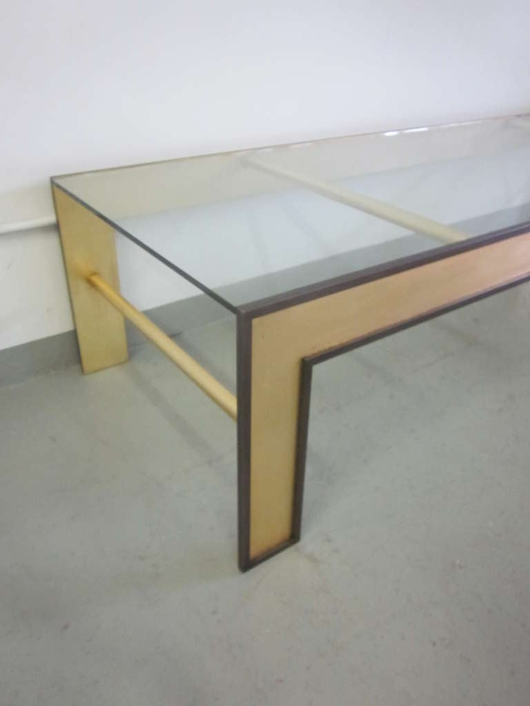 Large French Mid-Century Style Coffee Table from a Design by Marc Duplantier For Sale 4