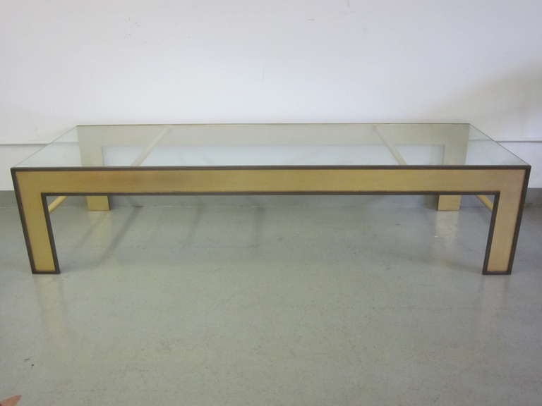 Modern Large French Mid-Century Style Coffee Table from a Design by Marc Duplantier For Sale