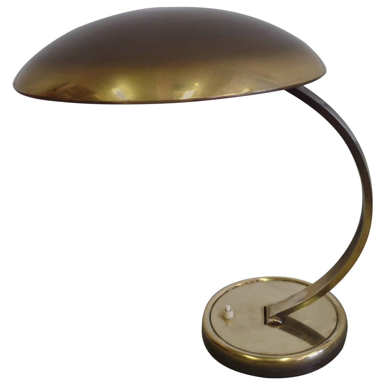 German Mid-Century Modern Solid Brass Articulating 'Bauhaus' Desk Lamp  For Sale