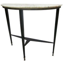 Tapered Italian Mid-Century Modern Neoclassical Console Attr.Guglielmo Ulrich
