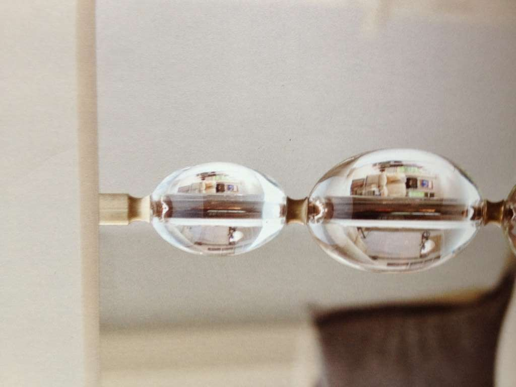 2 Pairs of Italian Mid-Century Modern Style Brass and Crystal Sphere Table Lamps For Sale 4