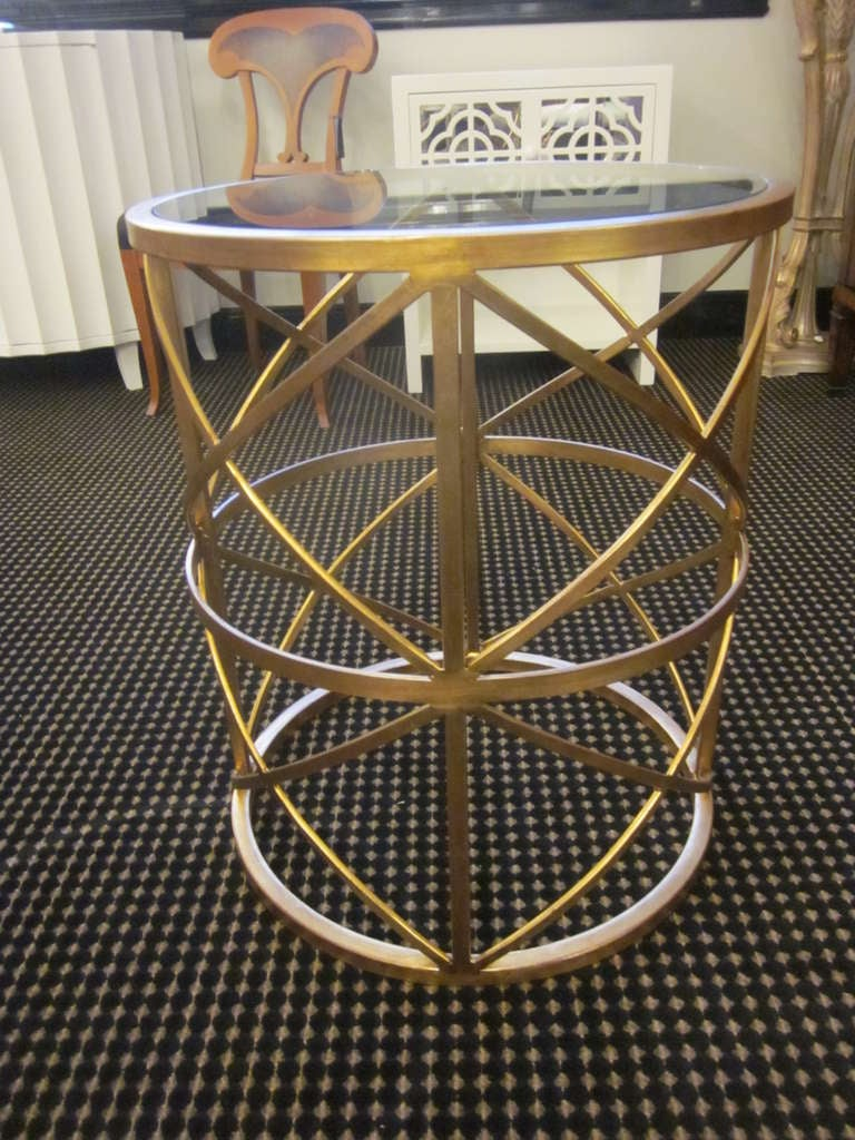 Two Italian Gilt Iron End Tables / Consoles 3