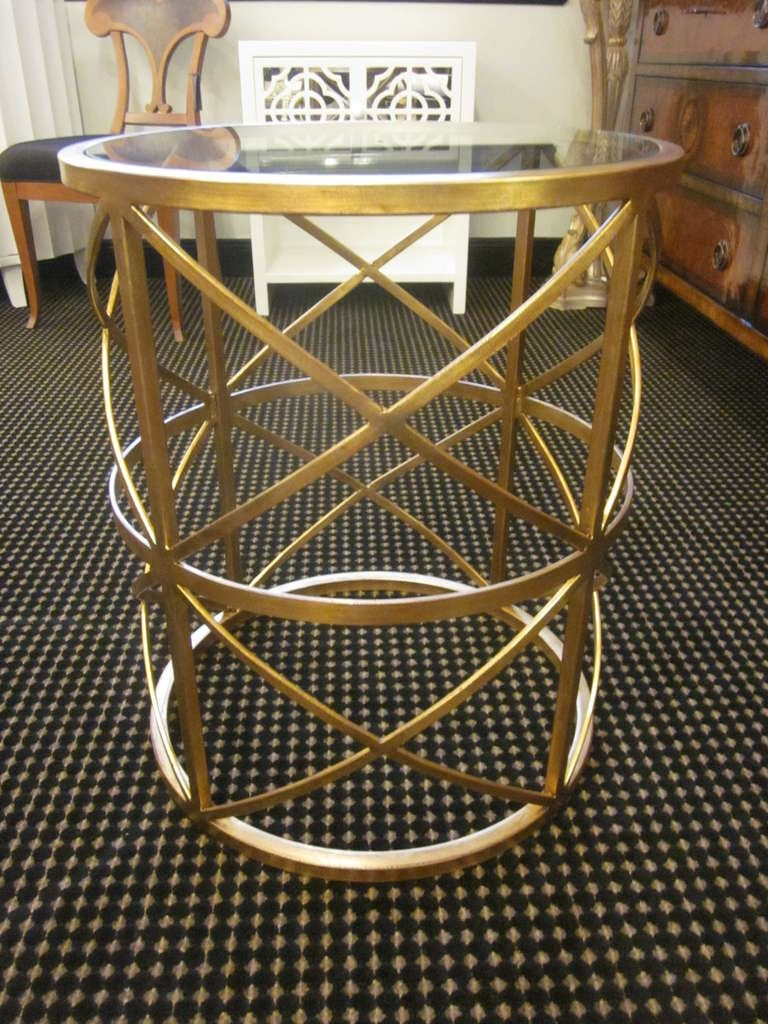 Two Italian Gilt Iron End Tables / Consoles 2