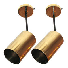 Pair of French Ceiling Fixtures / Wall Lights by Boris Lacroix