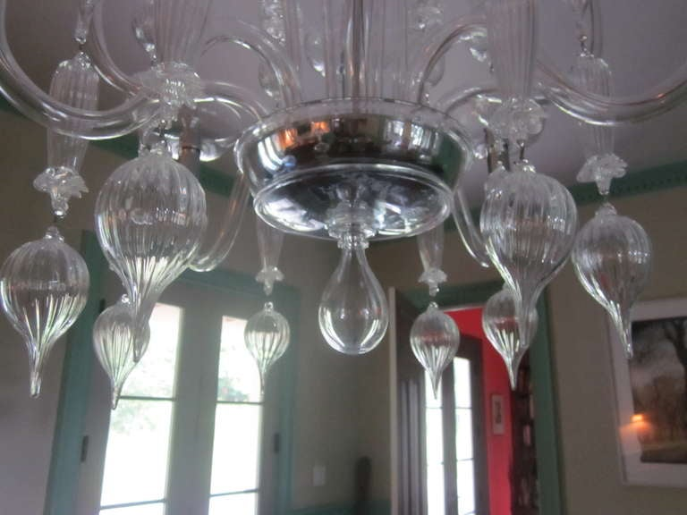 Clear Murano Glass Chandelier By Carlo Scarpa For Venini 1