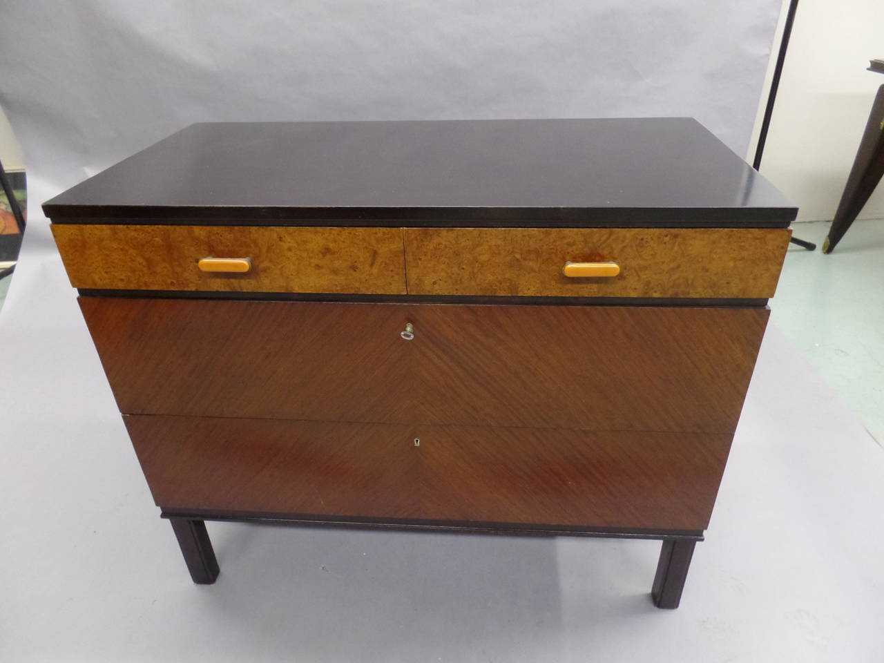 Swedish Mid-Century Modern Chest of Drawers / Commode by Axel Einar Hjort, 1930 3