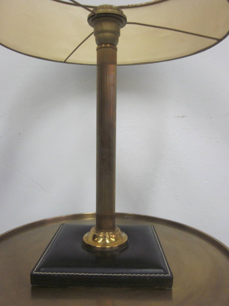 Hand Stitched Leather Desk Lamp Attributed To Hermes For Sale At 1stdibs
