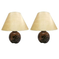 Pair of French Modern Craftsman Table Lamps in the Style Alexandre Noll
