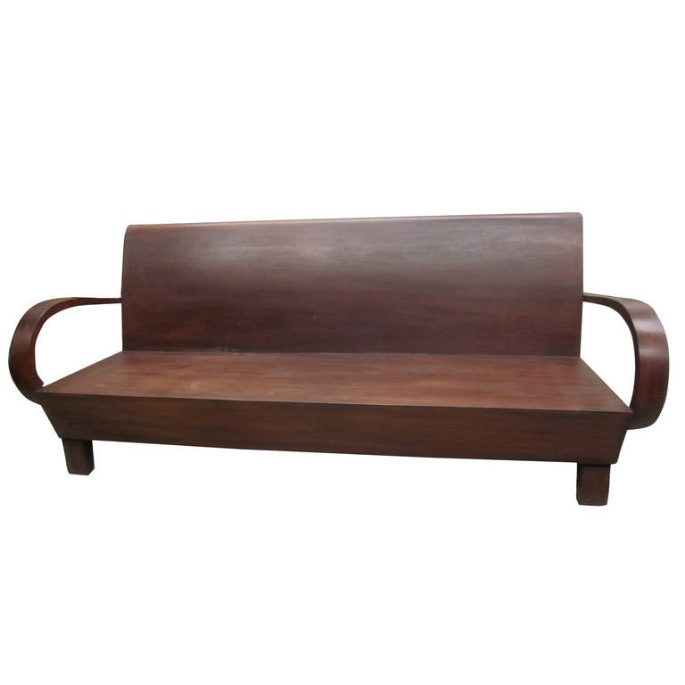 rare french colonial sofa bench at 1stdibs. Black Bedroom Furniture Sets. Home Design Ideas