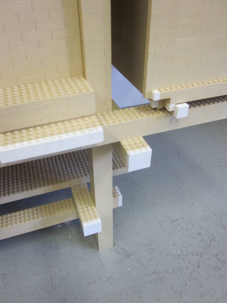 Important, Unique 'Rietveld ' Lego Sideboard by Minale-Maeda for Droog Design For Sale 1